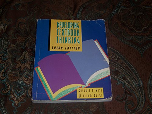 Developing Textbook Thinking: Nist, Sherrie L.