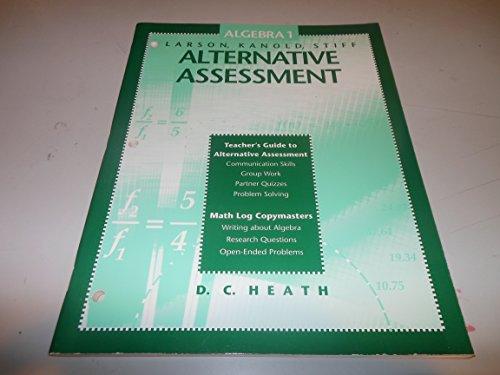 9780669299410: Algebra 1: Alternative assessment