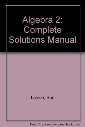 9780669300277: Algebra 2: Complete Solutions Manual