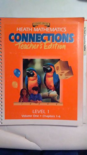 Mathematics Connections, Grade 1 Teacher's Edition, Volume 1, Chapters 1-6