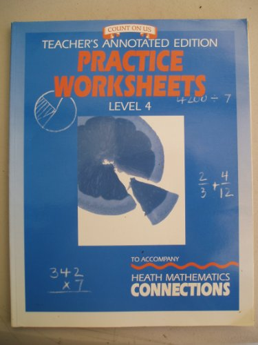 Worksheets D.c Heath And Company Worksheets teachers annotated edition practice worksheets level 4 to accompany heath mathematics