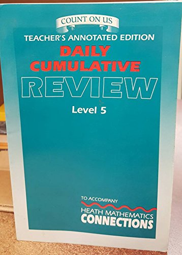 9780669311006: Daily Cumulative Review: Teacher's Annotated Edition to Accompany Heath Mathematics Connections (Level 5)