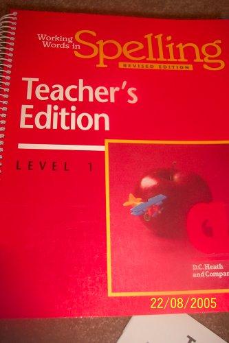 9780669313963: Working Words in Spelling (level 1)
