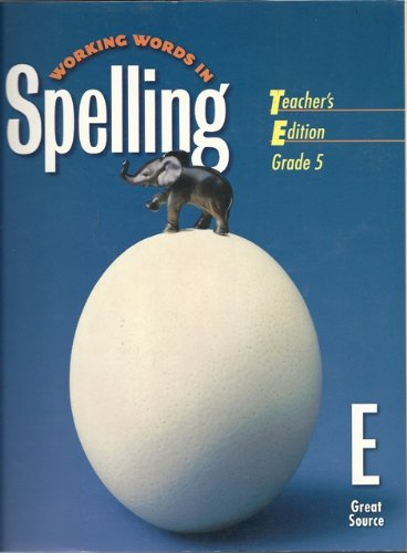 Working Words In Spelling, Level 5 ETeacher's Edition