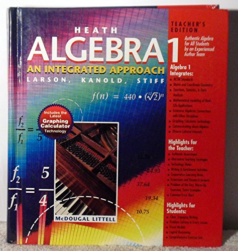 Heath Algebra 1: An Integrated Approach, Teacher's Edition (9780669316056) by Larson; Kanold; Stiff