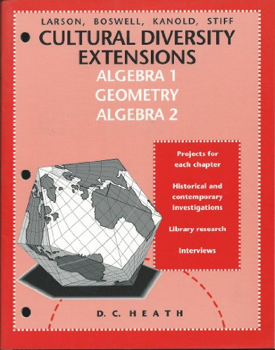 9780669320664: Cultural Diversity Extensions - Algebra 1, Geometry, Algebra 2
