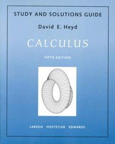9780669327113: Calculus Study and Solutions Guide, Fifth Edition