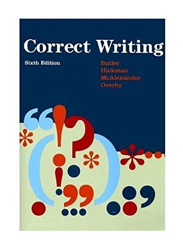 9780669340730: Correct Writing