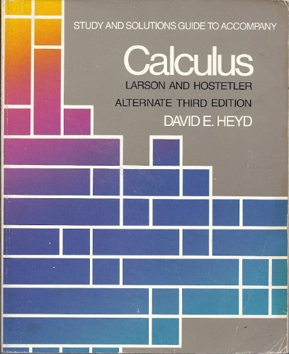 9780669342291: Study and Solutions Guide for Calculus (Alternate Fifth Edition)