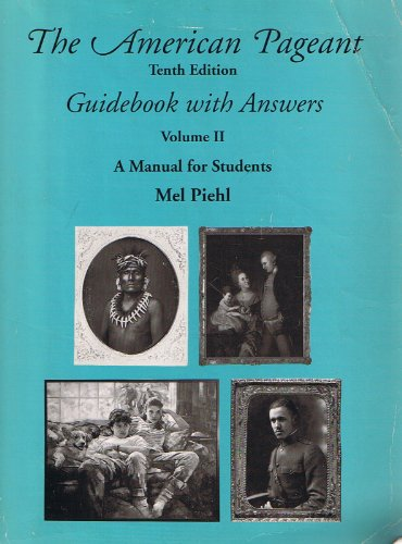 9780669350302: The American Pageant Guidebook with Answers Volume 11: A Manual for Students