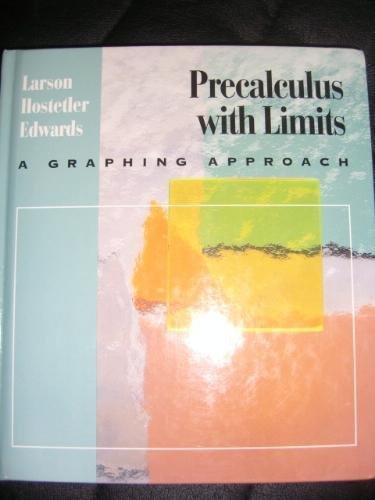 9780669352511: Precalculus With Limits: A Graphing Approach