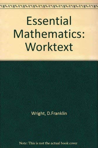 9780669352870: Essential Mathematics: A Worktext