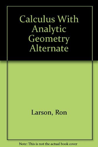 9780669353365: Calculus With Analytic Geometry Alternate
