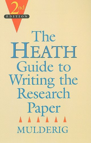 9780669353778: The Heath Guide to Writing the Research Paper