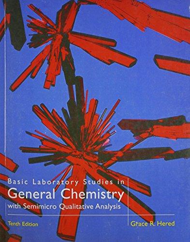9780669354911: Basic Laboratory Studies in General Chemistry: With Semimicro Qualitative Analysis