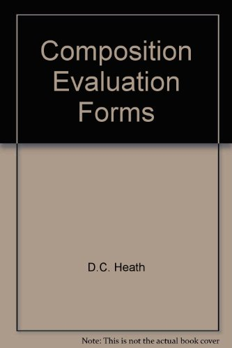 9780669377651: Composition Evaluation Forms