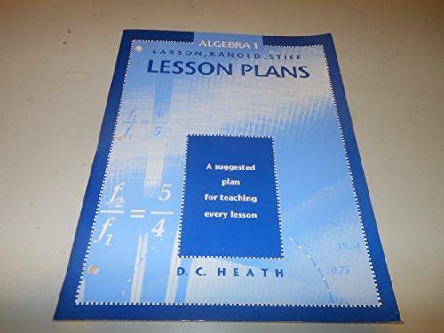 9780669387179: Lesson Plans (Algebra 1)