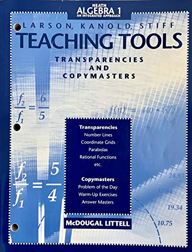 9780669387469: Teaching Tools: Transparencies and Copymasters: Heath Algebra 1 An Integrated Approach