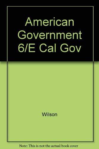 9780669393361: American Government 6/E Cal Gov