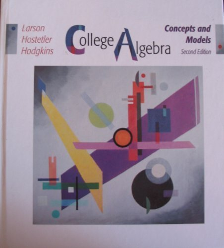 9780669396171: College Algebra: Concepts and Models
