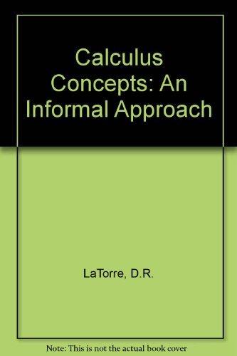 9780669398656: Calculus Concepts: An Informal Approach