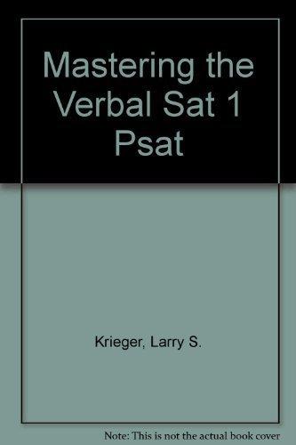 9780669406139: Mastering the Verbal Sat 1 Psat