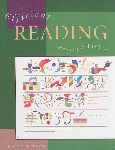 9780669415933: Efficient Reading