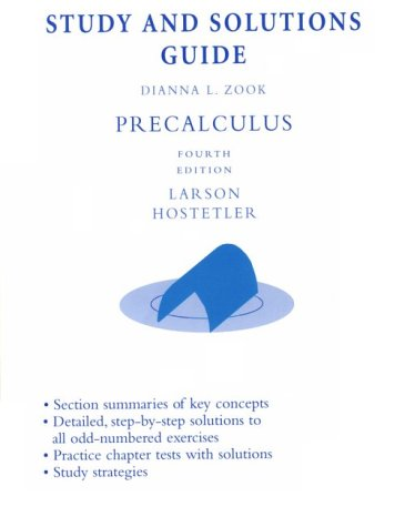 9780669417432: Precalculus: Study and Solutions Guide