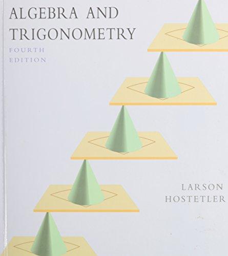 9780669417463: Algebra and Trigonometry