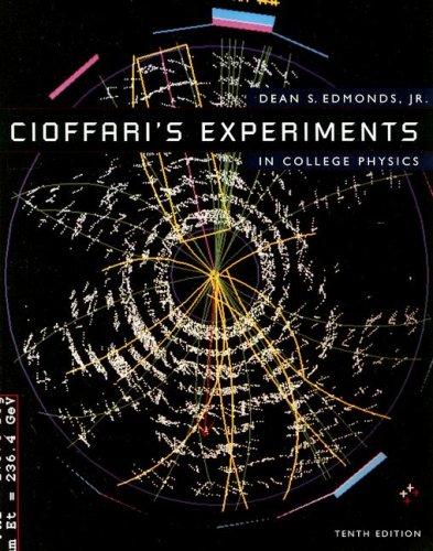 9780669418309: Cioffari's Experiments in College Physics