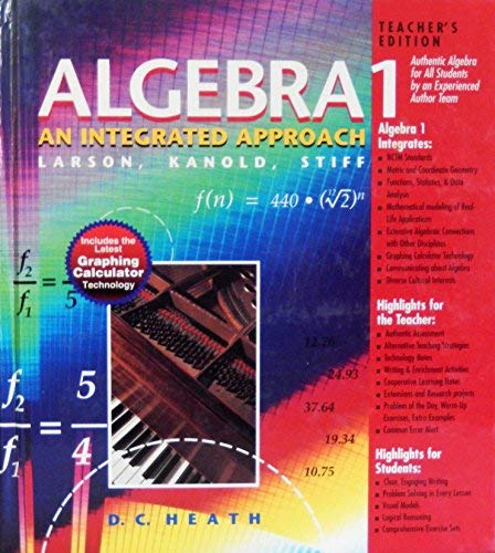 9780669431612: Algebra 1: An Integrated Approach, Teacher's Edition