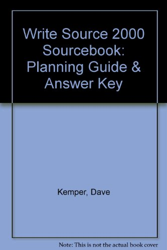 9780669432756: Write Source 2000 Sourcebook: Planning Guide & Answer Key