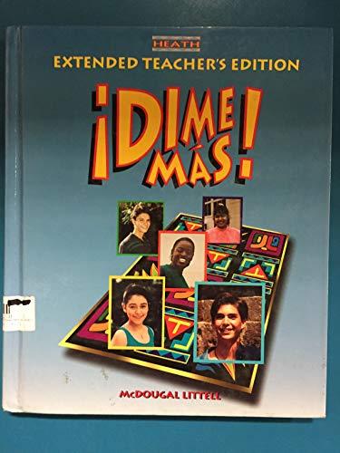 9780669433418: Dime Mas Level 1B Extended Teachers Edition