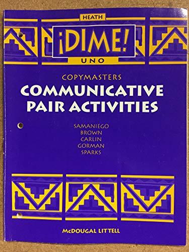 9780669433494: Dime! Uno: Communicative Pair Activities: Copymasters
