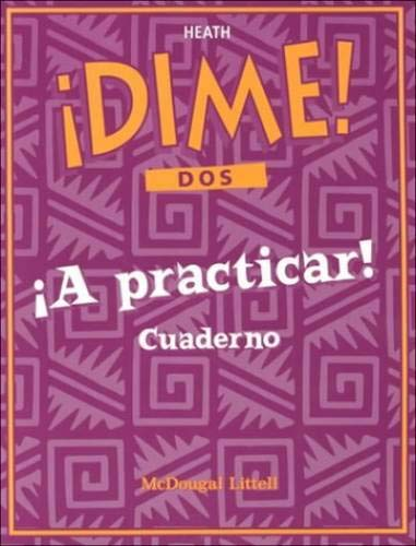 9780669433692: McDougal Littell Dime: Workbook Level 1 (Dch Dime97) (Spanish Edition)