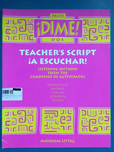 9780669434170: McDougal Littell Dime: Audio Tapscript Level 2 (Spanish Edition)