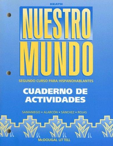9780669434453: Nuestro Mundo: Cuaderno de Activadades: Segundo Curso Para Hispanohablantes (Native Speaker Mundo 97-02)