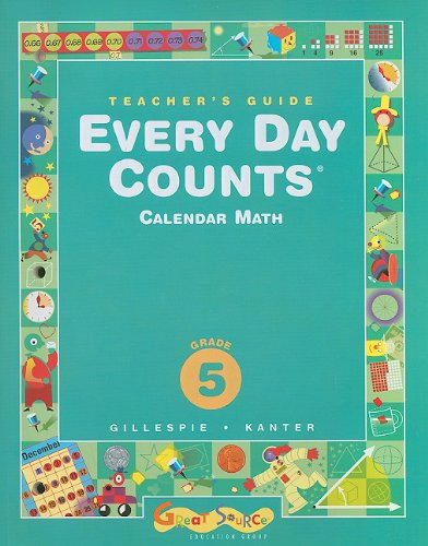 9780669441024: Great Source Every Day Counts: Teacher's Guide Grade 5