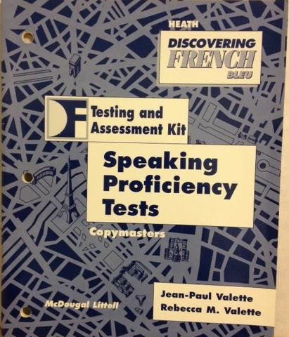 9780669441277: Discovering French Bleu (Testing and Assessment Kit) speaking Proficiency Tests