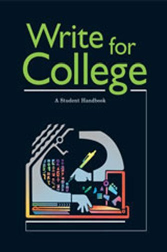 9780669444025: Write For College: A Student Handbook