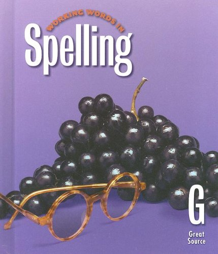 9780669459470: Great Source Working Words in Spelling: Student Workbook (Level G) 1998