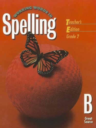 9780669459517: Great Source Working Words in Spelling: Teacher's Edition (Level B) 1998