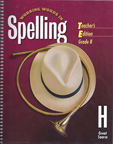 9780669459586: Working Words in Spelling