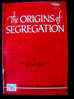 Origins of Segregation: Joel Williamson