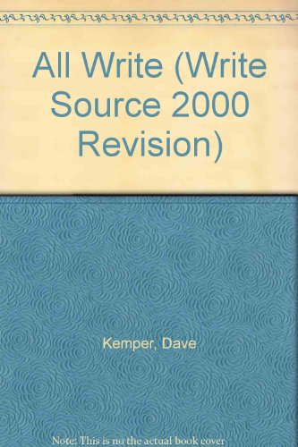 9780669464511: All Write Source Book, Teacher's Edition