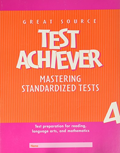 9780669464603: Great Source Test Achiever: Student Edition Grade 4