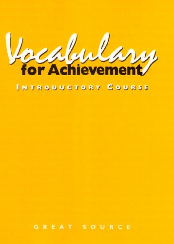 9780669464764: Vocabulary for Achievement, Introductory Course