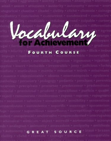 9780669464801: Vocabulary for Achievement: Course 4