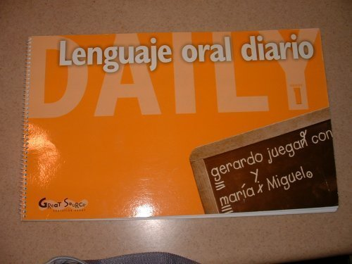 9780669468007: Great Source Daily Oral Language - Spanish: Teacher's Edition Grade 1 (Dailies-Grammer & Composition) (Spanish Edition)