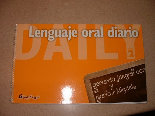 9780669468014: Great Source Daily Oral Language - Spanish: Teacher's Edition Grade 2 (Dailies-Grammer & Composition) (Spanish Edition)